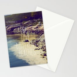 We love Different Beaches Stationery Cards