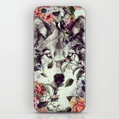 Floral Wolf iPhone & iPod Skin