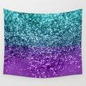 Purple Teal MERMAID Girls Glitter #1 #shiny #decor #art #society6 by anitabellajantzart