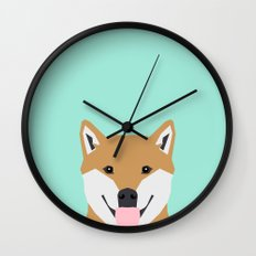 Cassidy - Shiba Inu gifts for dog lovers and cute Shiba Inu phone case for Shiba Inu owner gifts Wall Clock