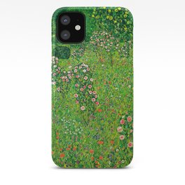"Gustav Klimt ""Orchard With Roses"" iPhone Case"