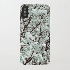 Winter Petals Slim Case iPhone X