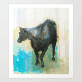 Swinging Bull Art Print