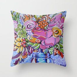 Graphic Floral 2 Throw Pillow