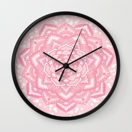 Pink mandala flower Wall Clock