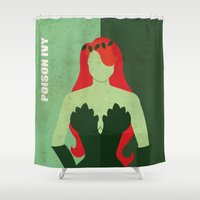 poison ivy Shower Curtains featuring Poison Ivy by Loud & Quiet