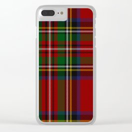 Scottish Royal Stewart tartan Clear iPhone Case