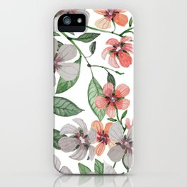 FLOWERS WATERCOLOR 12 iPhone Case