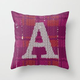 Winter clothes. Letter A III. Throw Pillow
