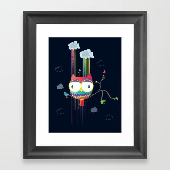 Colorfowl Framed Art Print