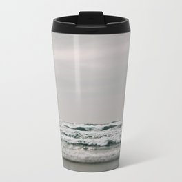 Waves Crashing on Cannon Beach Oregon Travel Mug
