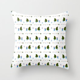 Monsters in Christmas Throw Pillow