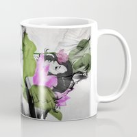 lotus flower Mugs featuring Lotus by SEVENTRAPS
