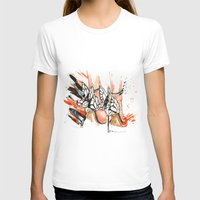 shoes T-shirts featuring Shoes by Sasha Spring Illustration