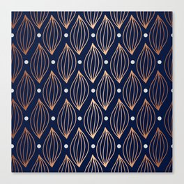 COPPER WAVE - NAVY BLUE Canvas Print