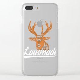 """A Beer Tee For Alcoholic """"Lausmadl"""" T-shirt Design Alcohol Sausage Partying Party Deer Animals Clear iPhone Case"""