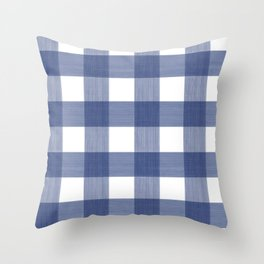 Blue Buffalo Check Throw Pillow