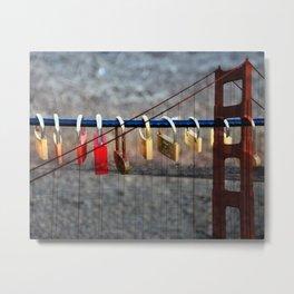 LOVE LOCKED - GOLDEN GATE BRIDGE Metal Print