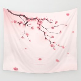 Oriental cherry blossom in spring 002 Wall Tapestry