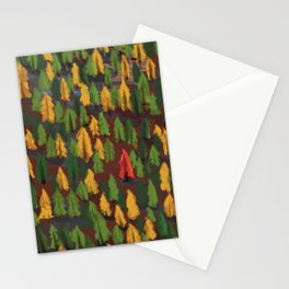 Fall Wood Stationery Cards
