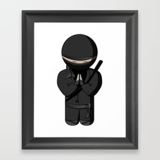 Ninja Bow Framed Art Print