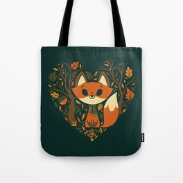 Foxy Heart Tote Bag