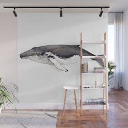 North Atlantic Humpback whale Wall Mural