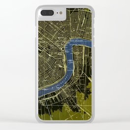 06-New Orleans Louisiana 1932, old colorful map Clear iPhone Case
