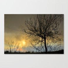Last light in the storm Canvas Print
