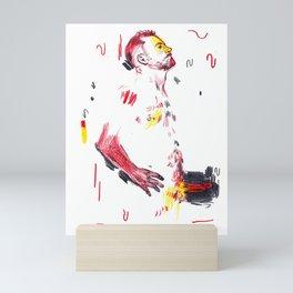 Self admiration - Man naked standing  Mini Art Print