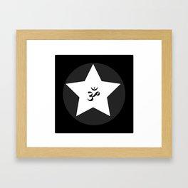 Om Star Framed Art Print