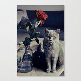 Diesel with rose Canvas Print