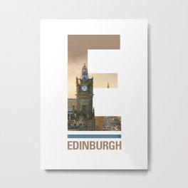 E-dinburgh Metal Print