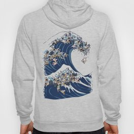 The Great Wave Of  French Bulldog Hoody