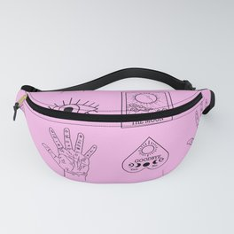 Palmistry Tarot Planchette Fortune Telling in Pink Fanny Pack