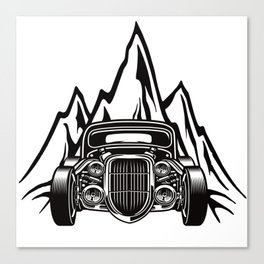 Hotrod with Bergen Custom Car Ami Car Car Canvas Print