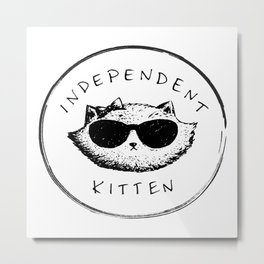 Independent Kitten Metal Print