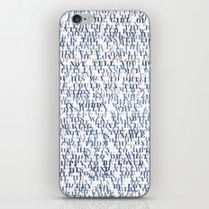 Sentences of Love Blue iPhone & iPod Skin
