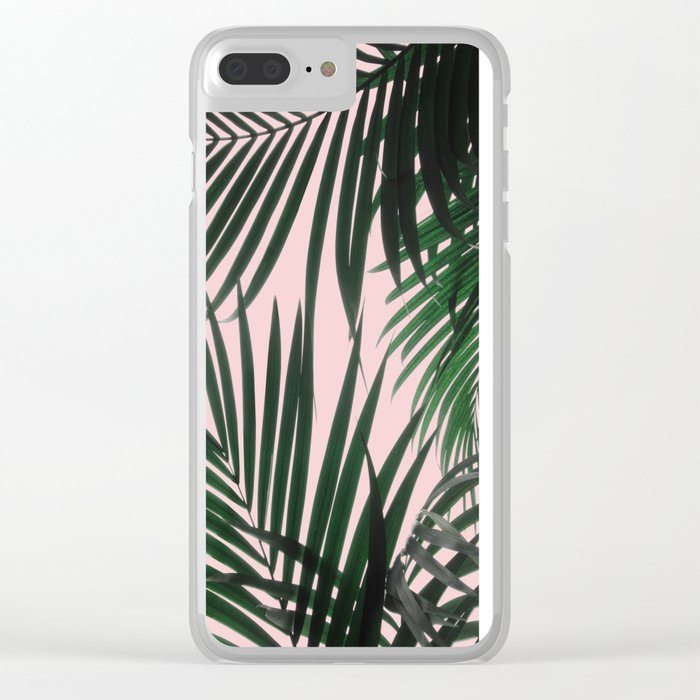 Delicate Jungle Theme Clear iPhone Case