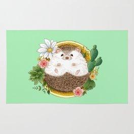 Hedgehog with cactus Rug
