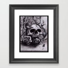 Faint Expression of the Unremembered Framed Art Print