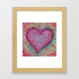 Pink heart. Abstract. Big pink heart Framed Art Print