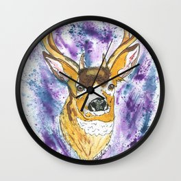 Winter Buck Wall Clock