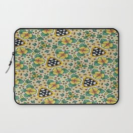 Yellow Violas with Checkers Laptop Sleeve