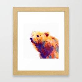 The Protective - Bear Framed Art Print