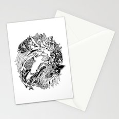 Sea Animals Surreal Doodle Art Stationery Cards