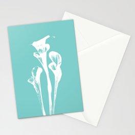 Calla Lily - Aqua Stationery Cards