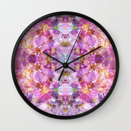 Real Cosmos Pressed Flower Kaleidoscope Wall Clock