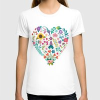 agnes T-shirts featuring Floral Heart by Anna Deegan