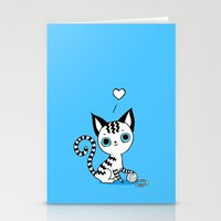 kitten Stationery Cards featuring Kitten by Freeminds